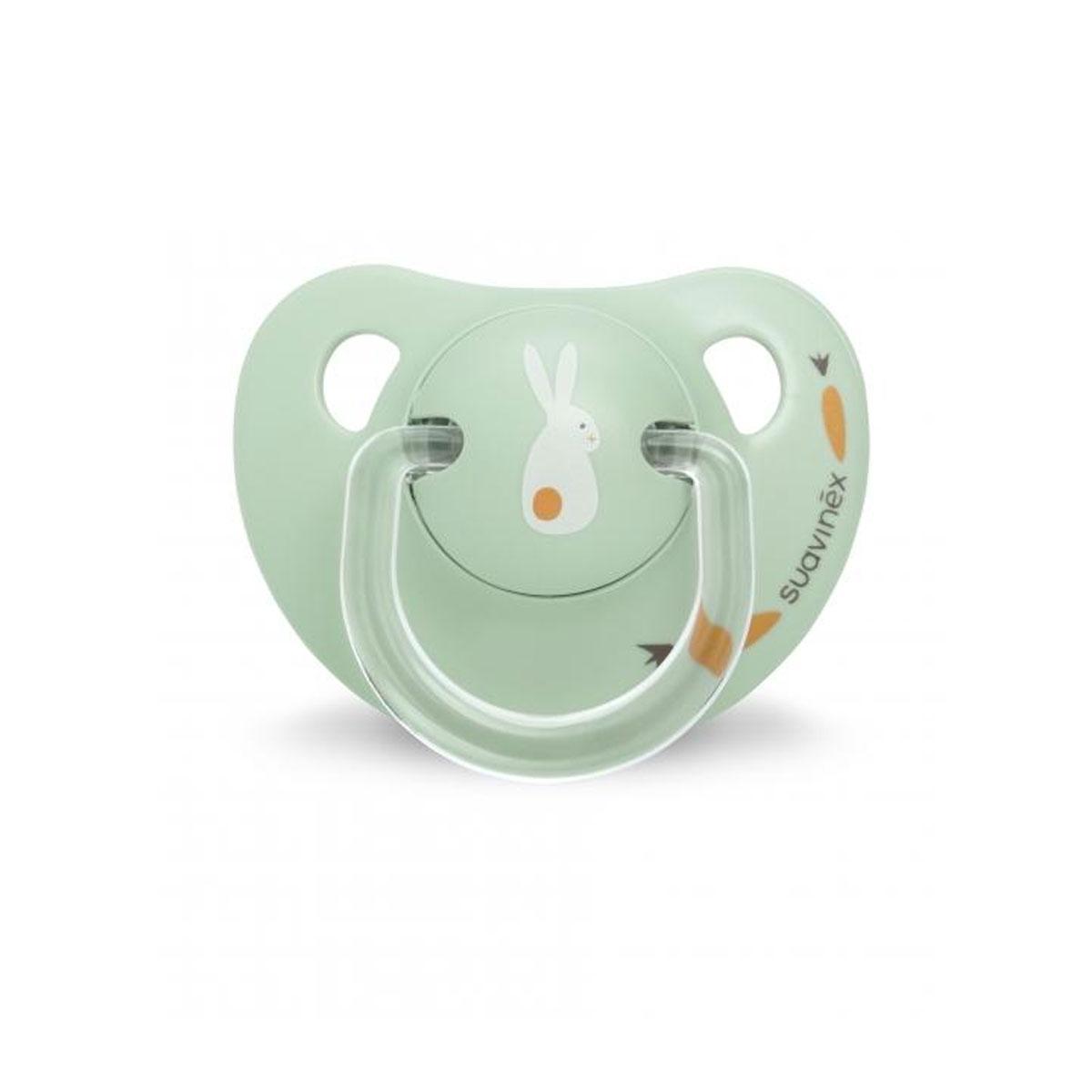 Ανατομική πιπίλα καουτσούκ green bunny 6-18m suavinex - Mommys Baby 78bdb197a2b