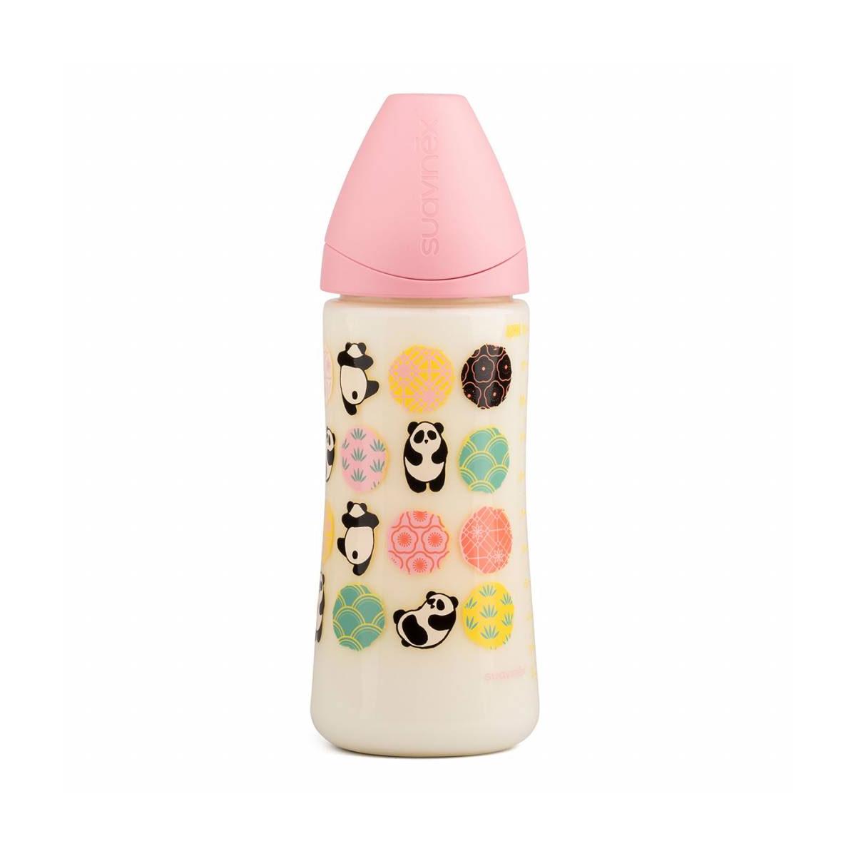 Μπιμπερό πλαστικό pink panda 360ml ανατομική θηλή σιλικόνης large ροής  suavinex 519e19bf607