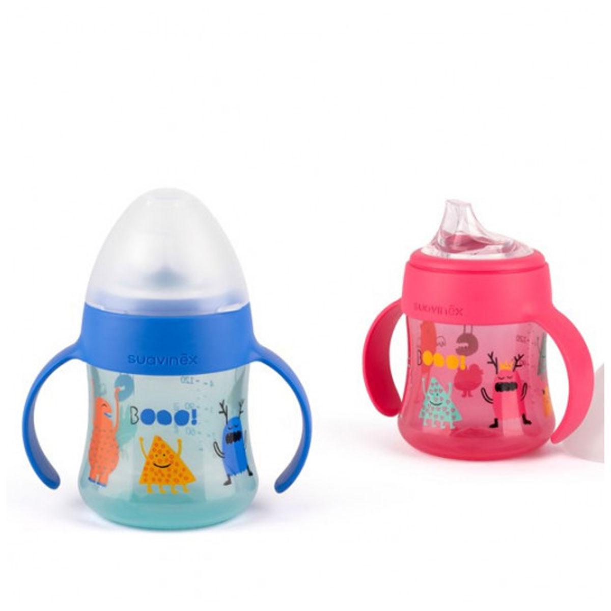 Πρώτο μπουκάλι με λαβές Booo pink suavinex - Mommys Baby ea0367718be