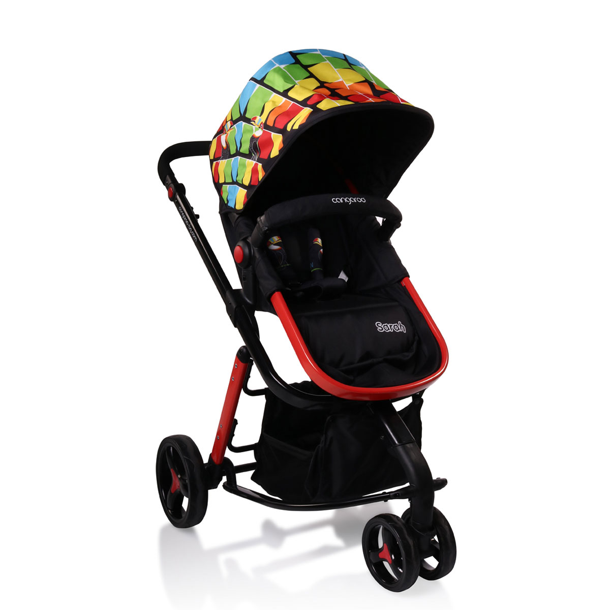 7e131f55099 Καρότσι Sarah colorful cangaroo - Mommys Baby